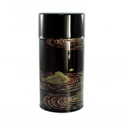Japanese iron tea box, KAWA MOMIJI, green and black