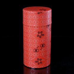 Japanese tea box made of washi paper, 20205R, Red and black
