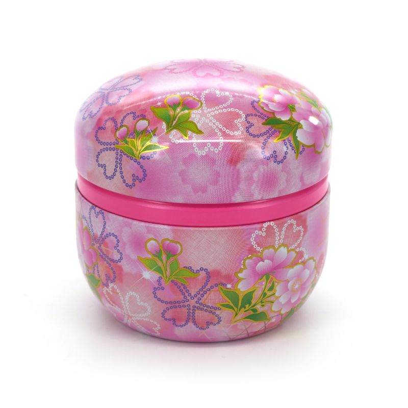 pink japanese tea box in meta, HIYORI, pink