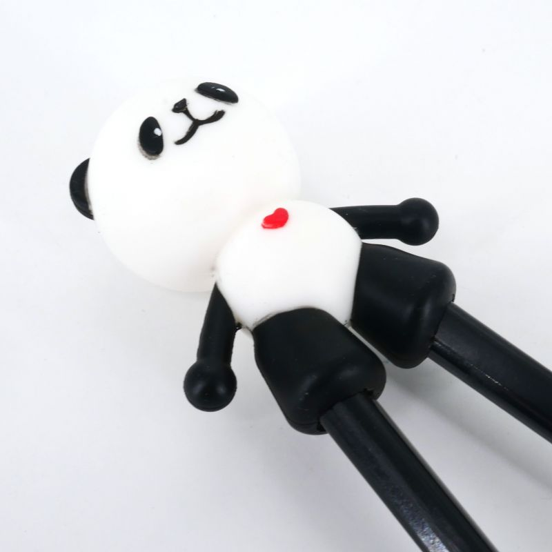 black japanese chopsticks helper in rubber panda PANDA