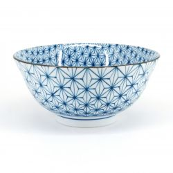 blue japanese bowl in ceramic sashiko ASANOHA