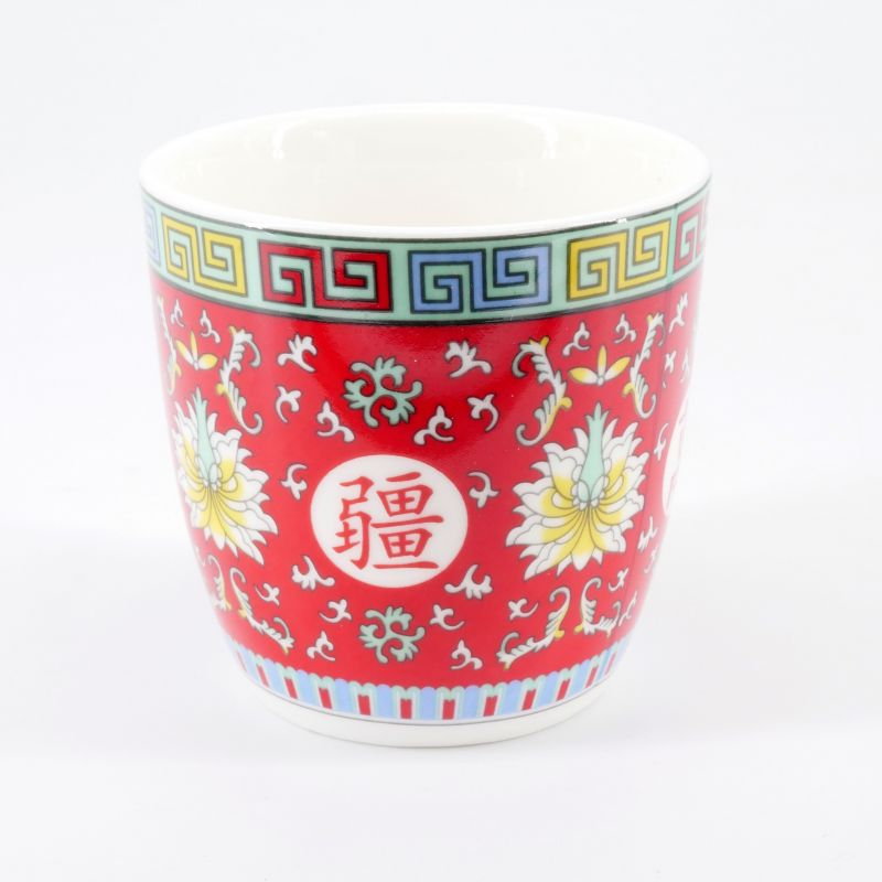 red japanese teacup in ceramic new arabesque HASU