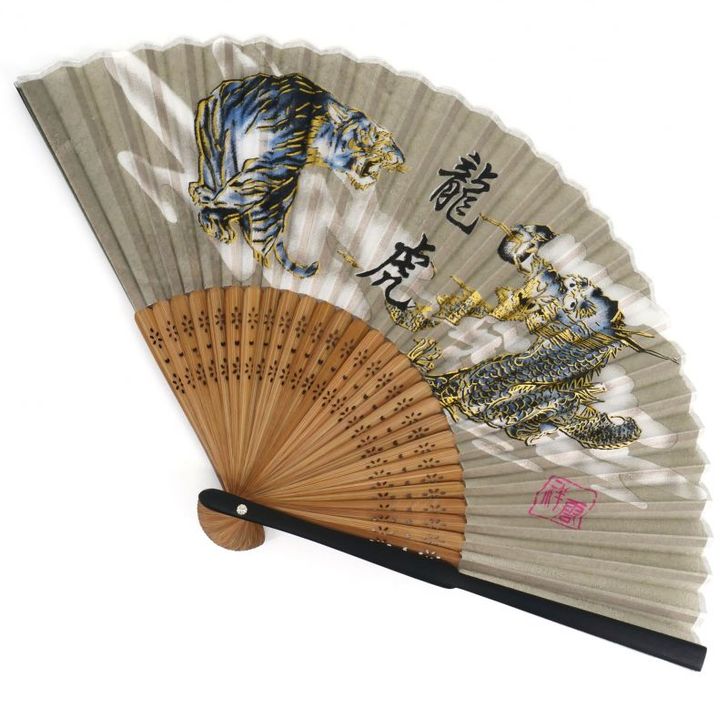 Japanese fan in Silk and Bamboo, TORATORYU