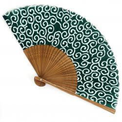 Japanese fan in Silk and Bamboo, KARAKUSA