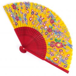 Japanese fan in Silk and Bamboo, CHOTOHANA