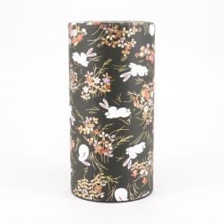 Japanese tea box made of washi paper, USAGI