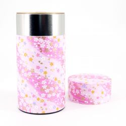 Japanese tea box made of washi paper, SAKURA