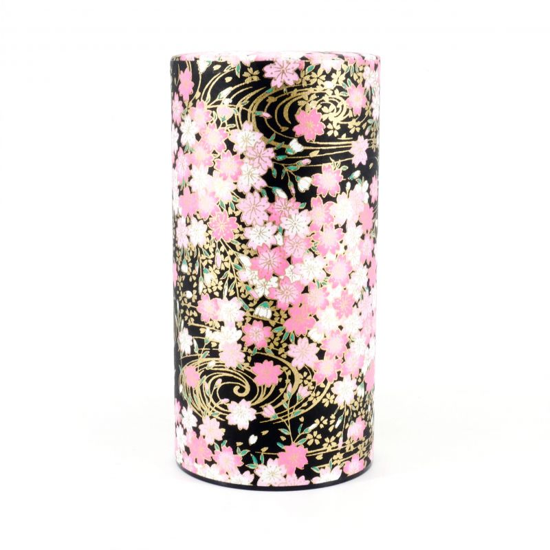 Japanese tea box made of washi paper, KUROSAKURA