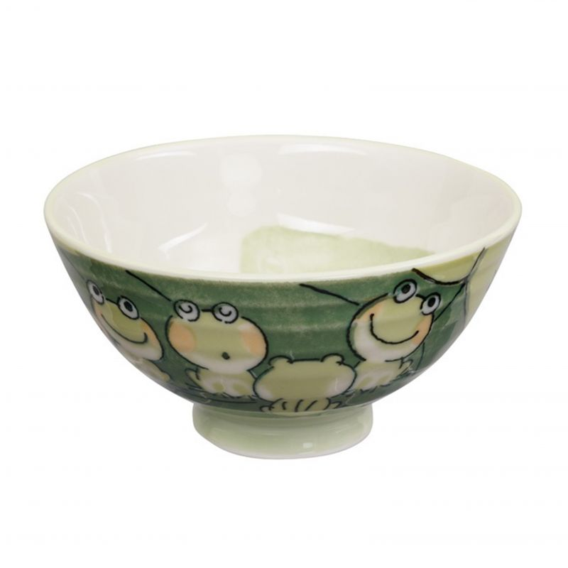 Japanese ceramic bowl with frog - KEROKERO