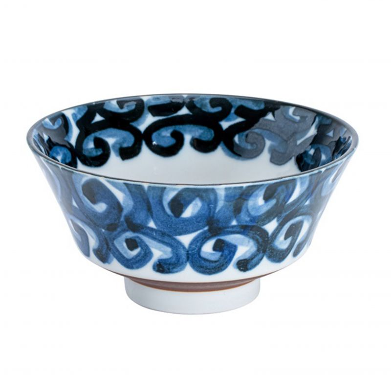 Japanese ceramic whirlpool bowl - UZU
