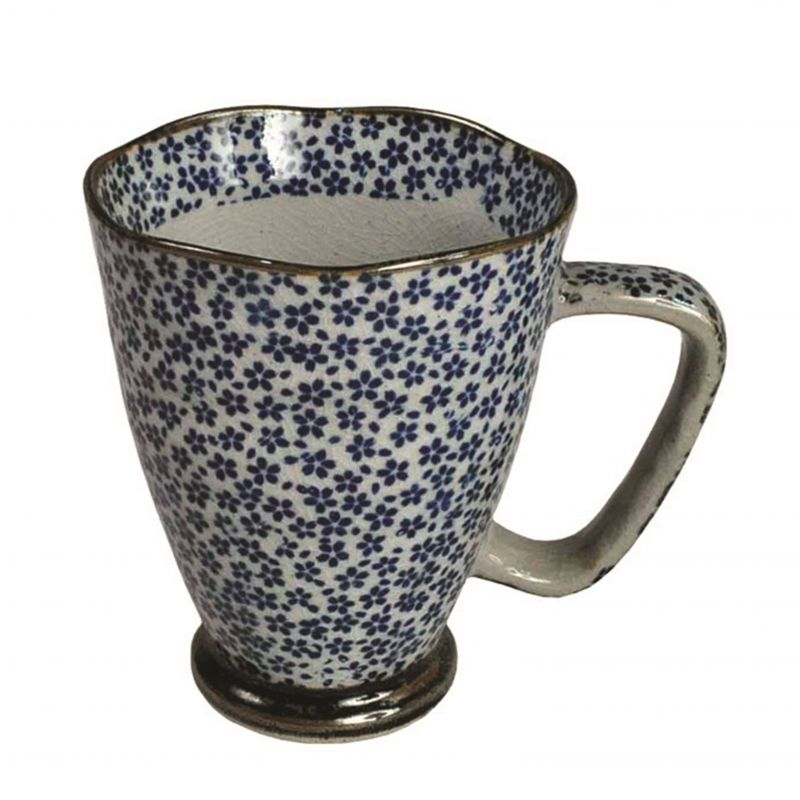 Japanese blue and gray ceramic mug - AO TO HAIIRO