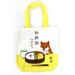 100% cotton tote bag, CANVA BAG, bento and shiba