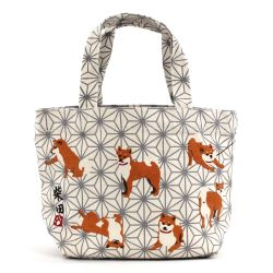 100% cotton tote bag, CANVA BAG, small shiba inu