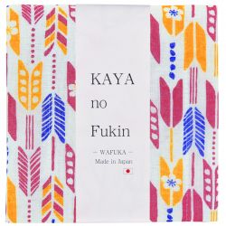 Japanese cloth towel, WAFUKA, multicolored arrows
