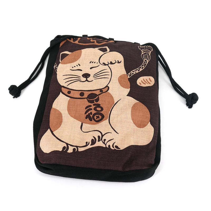 Japanese cotton shingen bag - SHINGEN CAT