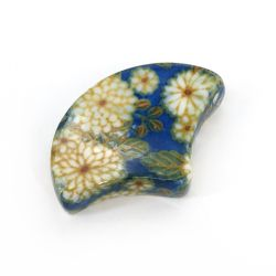 Japanese ceramic chopsticks rest - ITTAI - blue