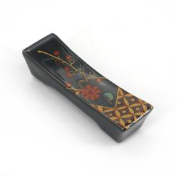 Japanese ceramic chopsticks rest - HANAFUDA