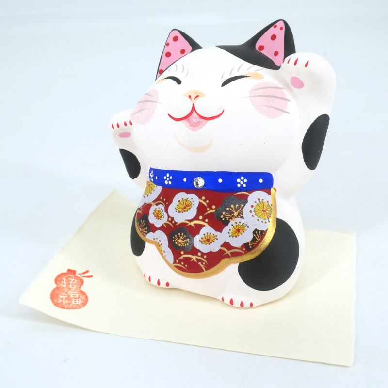 Japanese cat Manekineko, YORU NO HANA, night flower