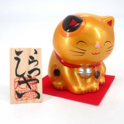 Manekineko Japanese cat money box, KIN KANEGAI