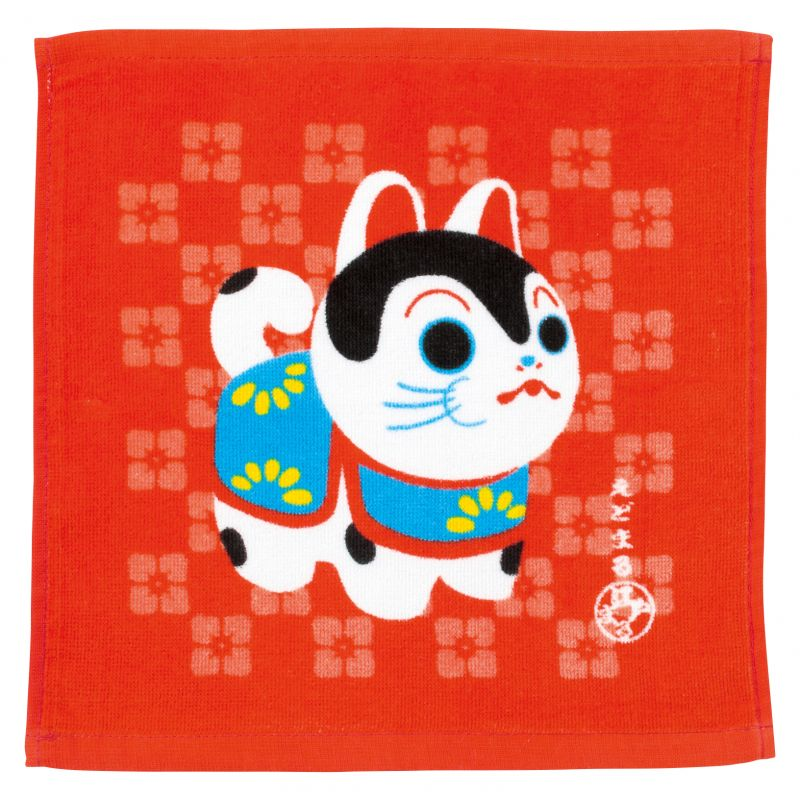 Japanese cotton hand towel, HARIKO INU, small dog
