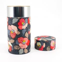 Japanese tea box made of washi paper, TSUBAKI