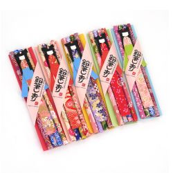 Set of 4 HB pencils with a Japanese bookmark - BUKKUMAKU - random patterns and colors