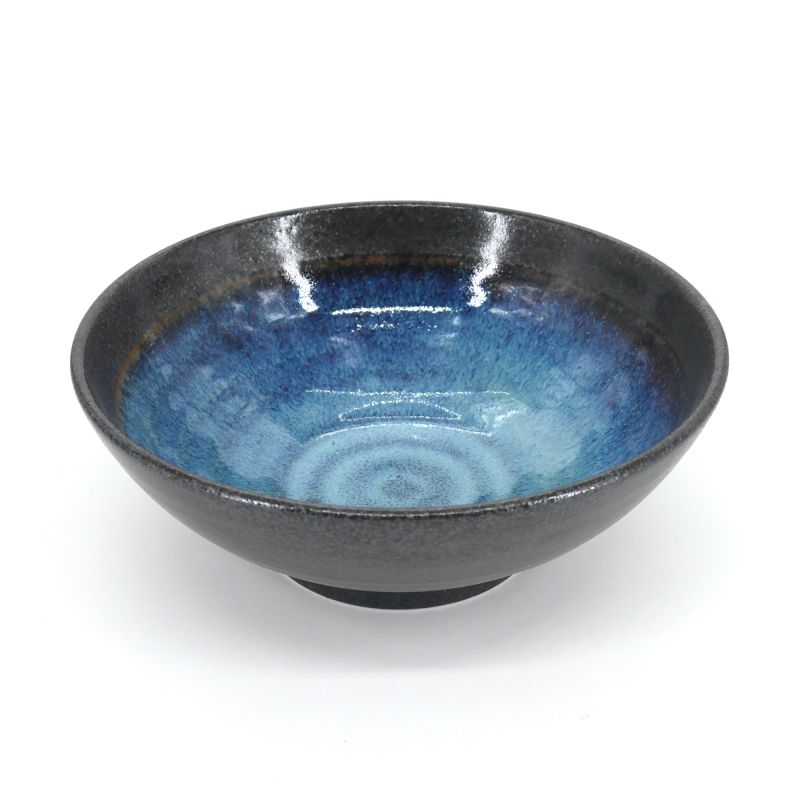 Japanese ramen bowl black and blue - KURO TO AO