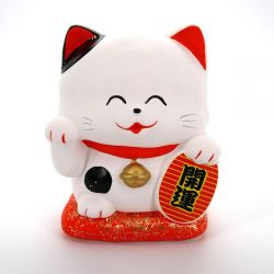Japanese ceramic lucky manekineko cat - KAWAII SHIRO -