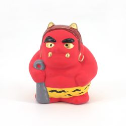 Small Japanese ceramic red demon ornament - AKAONI -
