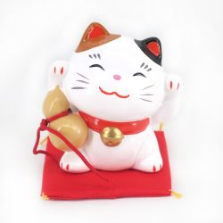 Japanese ceramic manekineko lucky cat - MIKE HYOTAN - both paws