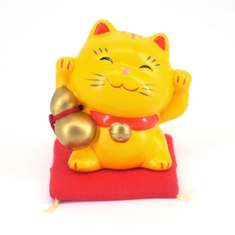 Japanese ceramic manekineko lucky cat - TORA HYOTAN - both paws