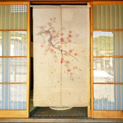 Japanese curtain Noren, SAKURA