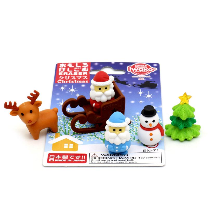 Eraser set IWAKO - CHRISTMAS