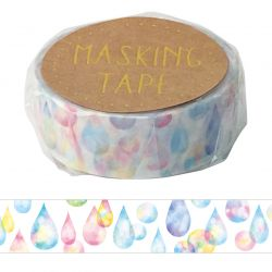 Masking Tape - GLITTER DROP WASHI TAPE - Gotas de brillo