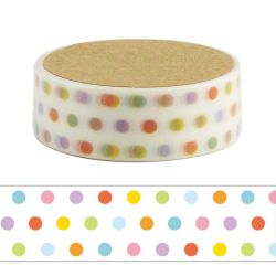 Masking Tape - DOT COLORFUL WASHI TAPE - puntos de color