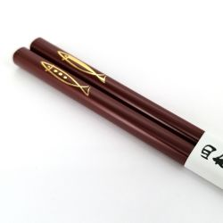Pair of Japanese chopsticks in natural wood - AKA  KINGYO