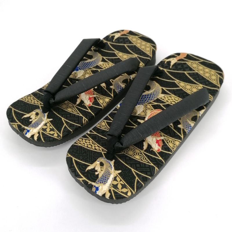 Pair of Japanese zori sandals in polyester, KOI