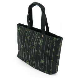 Japanese cotton & polyester bag, TAKE 7502B, black