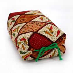 Makura cushion with red chilli pattern - MAKURA CHIRIPEPPA