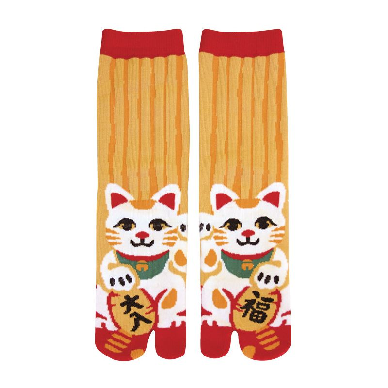 Japanese cotton tabi socks, MANEKINEKO