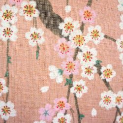 Japanese curtain NOREN, Pink cherry GRADATION SHIDARE SAKURA