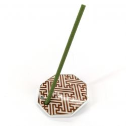 Japanese porcelain incense holder - SAYAGATA - Labyrinth