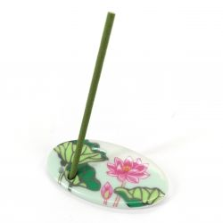 Japanese porcelain incense holder - HASU - Lotus