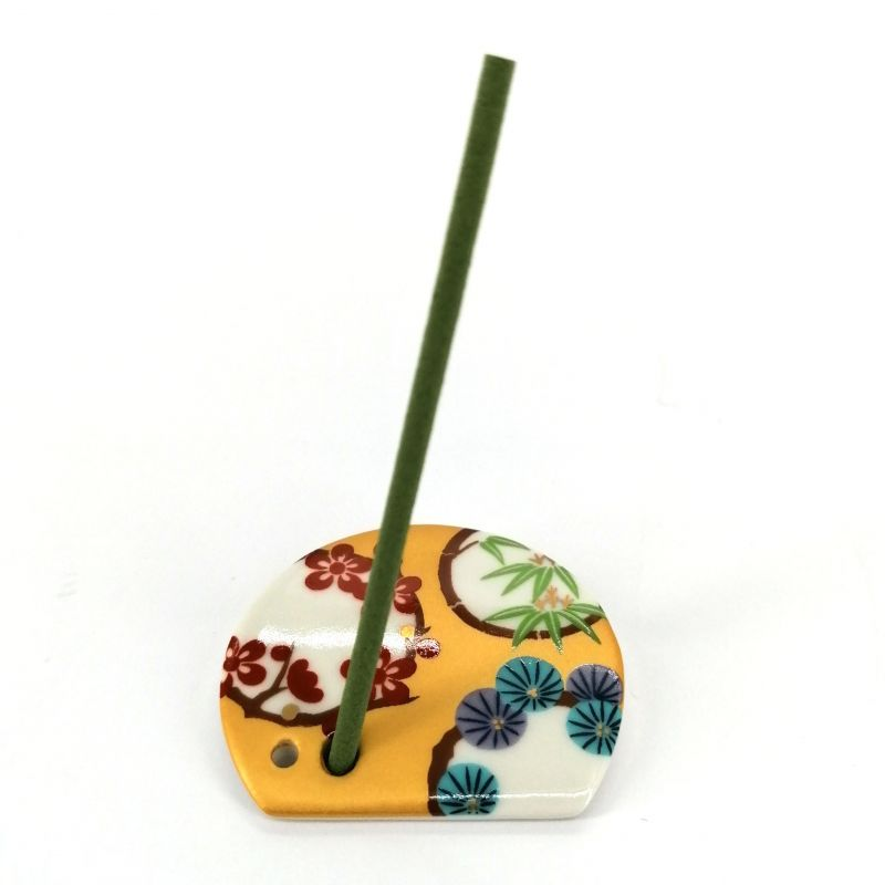 Japanese porcelain incense holder - SHOCHIKUBAI - Lucky Omen