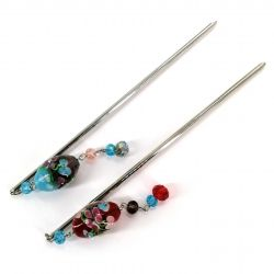 Flower hair pick - TOMBO-DAMA KANZASHI