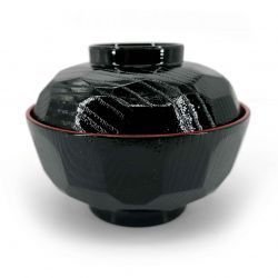 Japanese bowl with lacquered effect lid - SHIKKI