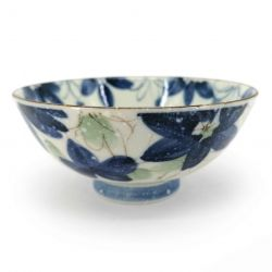 Japanese ceramic rice bowl - WASURENAGUSA