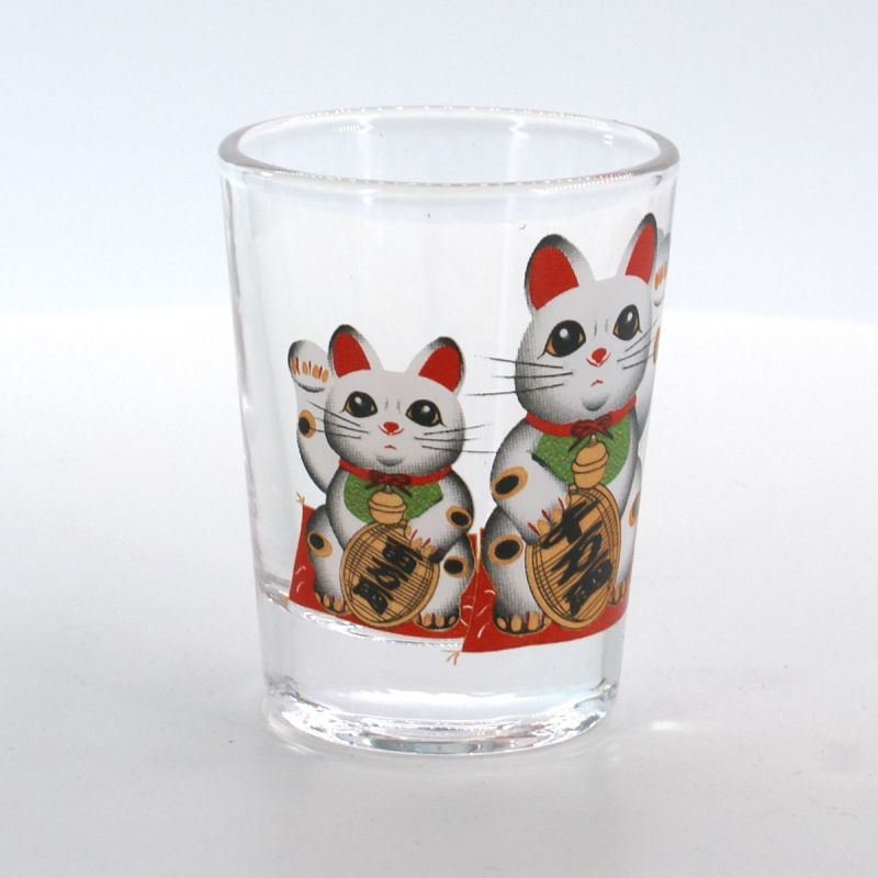 shot glass with pictures  MANEKINEKO