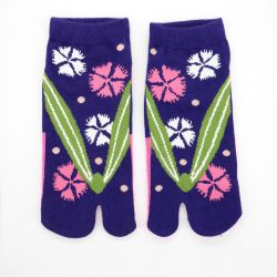 japanese cotton tabi socks, ZORI-NADESHIKO, blue