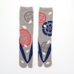 japanese cotton tabi socks, ODANOBUNAGA, grey